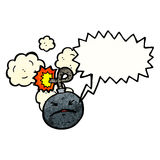 Cartoon bomb Stock Images
