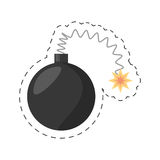 Cartoon bomb april fools day. Illustration eps 10 Royalty Free Stock Photo