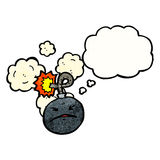 Cartoon bomb with face Royalty Free Stock Image