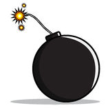 Cartoon of a bomb Stock Images