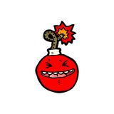 Cartoon bomb ready to blow Royalty Free Stock Photos