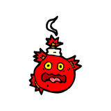 cartoon bomb ready to blow Royalty Free Stock Images