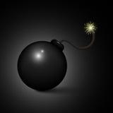 Cartoon bomb ready to explode. Stock Photo