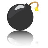 Cartoon bomb with reflection Royalty Free Stock Images