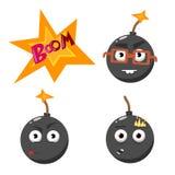 Cartoon bomb set 2 Royalty Free Stock Image