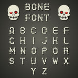 Cartoon Bone Alphabet A to Z Flat Design Font Stock Photos
