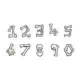 cartoon bone numbers Stock Photo