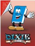 Cartoon Book. He called dixie a smart book Stock Photo
