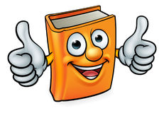 Cartoon Book Character Mascot Stock Images