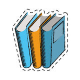 Cartoon book library read learn Royalty Free Stock Photography