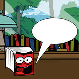 Cartoon book with speech bubble Royalty Free Stock Images