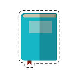 Cartoon book study knowledge icon Royalty Free Stock Photos