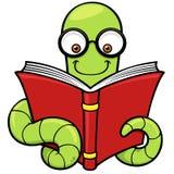 Cartoon book worm. Vector illustration of Cartoon book worm Royalty Free Stock Photography