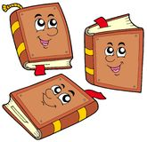 Cartoon books in various positions royalty free illustration