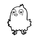 Cartoon bored bird Stock Photos