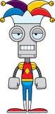 Cartoon Bored Jester Robot Stock Photo
