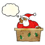 Cartoon bored santa claus with thought bubble Royalty Free Stock Images