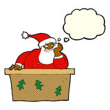Cartoon bored santa claus with thought bubble Royalty Free Stock Photo