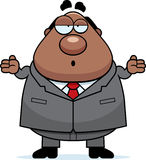 Cartoon Boss Confused Royalty Free Stock Image
