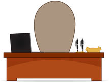 Cartoon Boss Desk Stock Image