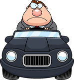 Cartoon Boss Driving Angry Stock Photo