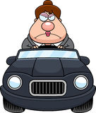 Cartoon Boss Driving Angry Stock Photo