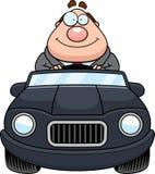 Cartoon Boss Driving Happy Stock Image