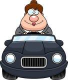 Cartoon Boss Driving Happy Stock Photo