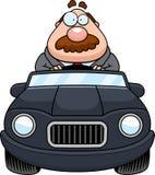 Cartoon Boss Driving Royalty Free Stock Images
