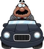 Cartoon Boss Driving Royalty Free Stock Photography