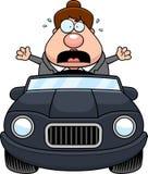 Cartoon Boss Driving Panic Royalty Free Stock Photos