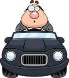 Cartoon Boss Driving Surprised Royalty Free Stock Photos