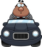 Cartoon Boss Driving Surprised Stock Images
