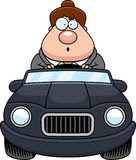 Cartoon Boss Driving Surprised Stock Photo