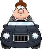 Cartoon Boss Driving Surprised Stock Photo