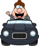 Cartoon Boss Driving Waving Stock Photos