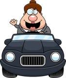 Cartoon Boss Driving Waving Stock Photos