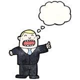 cartoon boss with idea Royalty Free Stock Photos