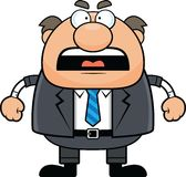 Cartoon Boss Man Angry Royalty Free Stock Photography