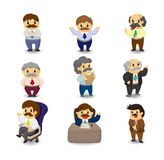 Cartoon boss and Manager icon set Stock Image