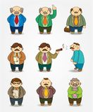 Cartoon boss and Manager icon set Stock Photography
