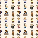 Cartoon boss and Manager seamless pattern Stock Images