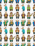 Cartoon boss seamless pattern Stock Photos