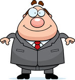 Cartoon Boss Smiling Royalty Free Stock Photography