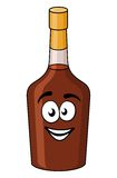Cartoon bottle of alcohol or liqueur Stock Photos