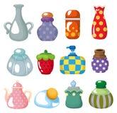 Cartoon bottle icon. Drawing Stock Photo