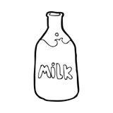 cartoon bottle of milk Royalty Free Stock Image