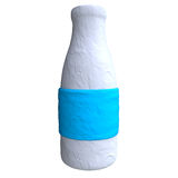 Cartoon bottle from plasticine or clay Stock Images