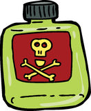 Cartoon Bottle of Poison Royalty Free Stock Photos