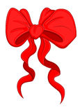 Cartoon Bow - Christmas Vector Illustration Royalty Free Stock Images